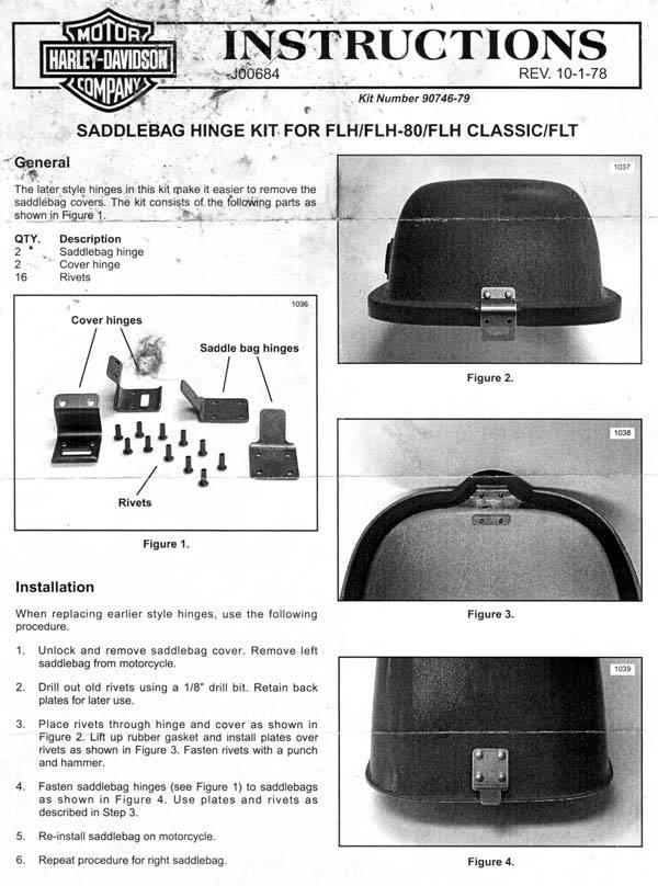 Hd Saddlebag Hinge Kit on Shovelhead Solenoid Install